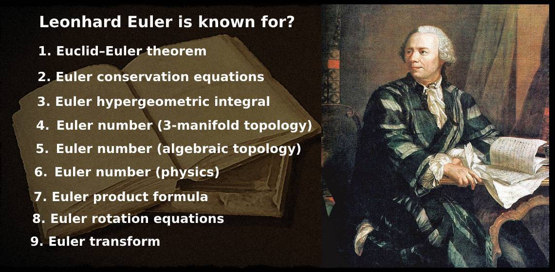Leonhard Euler is known for vedic math school
