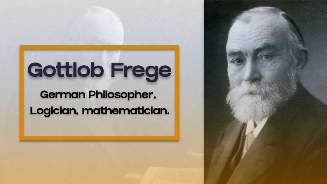 Gottlob frege German philosopher, logician, and mathematician.